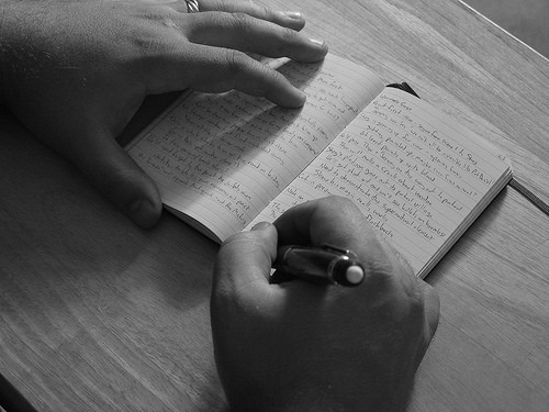 writing in a journal