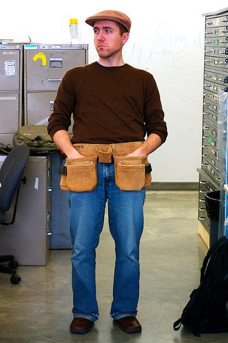 man in tool belt