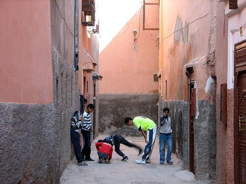 children in marrakesh