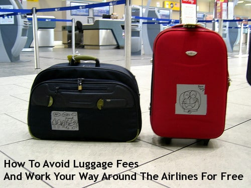 two suitcases at airport