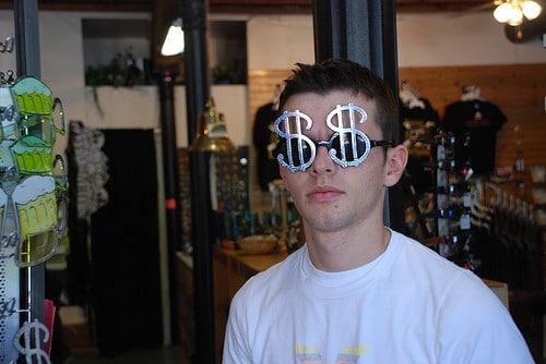 dollar sign glasses