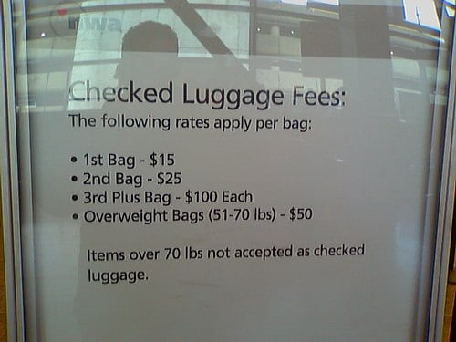 checked baggage fee