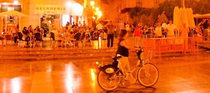valencia night panorama